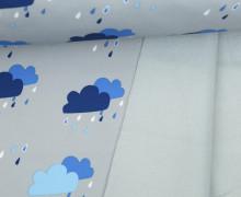 Softshell - Fleece - Wolken - Rainy Days - Hellgrau/Blau