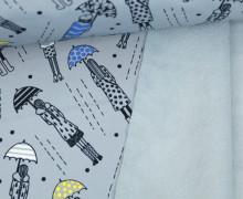 Softshell - Fleece - Umbrella Girl - Rainy Days - Blaugrau