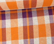 Bio-Jacquard - Sinclair - Check Point - Hamburger Liebe - Orangegelb/Violett