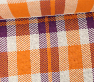 Bio-Jacquard - Sinclair - Check Point - Hamburger Liebe - Orangegelb/Violett