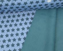 Softshell - Fleece - Sterne - Rainy Days - Taubenblau