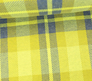 Bio-Jacquard - Sinclair - Check Point - Hamburger Liebe - Gelb/Blau