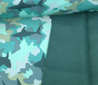 Softshell - Fleece - Camouflage - Haie - Rainy Days - Grün