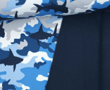 Softshell - Fleece - Camouflage - Haie - Rainy Days - Blau
