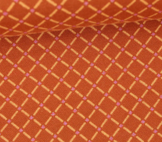 Bio-Jacquard - Fish Net - Check Point - Glitzer - Hamburger Liebe - Orangebraun