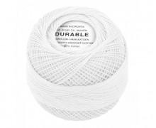 1 Stickgarn - Häkelgarn - Durable - 160m - Weiß (1000)