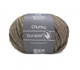 1 Stickgarn - Häkelgarn - Durable - Chunky - 70m - Braun (2229)