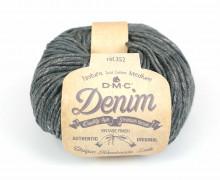 1 DMC Natura Medium Denim Garn - Jeanslook - Meliert - Dunkelgrau/Squid Ink (02)