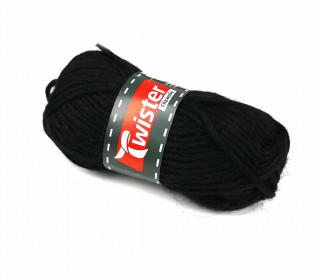 1 Twister Filzwolle - Uni - 50m - Schwarz