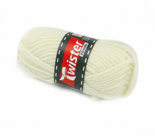 1 Twister Filzwolle - Uni - 50m - Cremeweiß