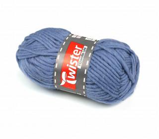 1 Twister Filzwolle - Uni - 50m - Taubenblau