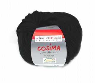 1 Wollgarn - Cosima plus Merino - 70m - Schwarz(002)