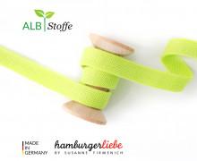 Hoodiekordel - Flachkordel - Cord me - Melange - 12mm - Check Point - Hamburger Liebe - Gelbgrün