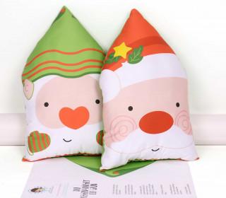 Kissenstoff - DIY - Santa - Elf - Weihnachtsmann - Weihnachten - Grün - abby and me
