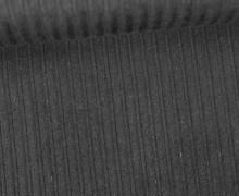 Stretchcord - Breitcord - elastisch - Uni - Schwarz