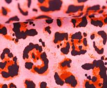 Jersey - Leo Flecken - Leopardenmuster - Leo Print - Hellpink