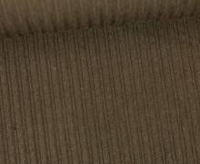 Stretchcord - Breitcord - elastisch - Uni - Dunkelbraun