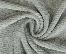 Jersey - Rippen - Uni - Grau meliert