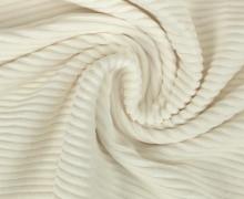 Jersey - Rippen - Uni - Weiß