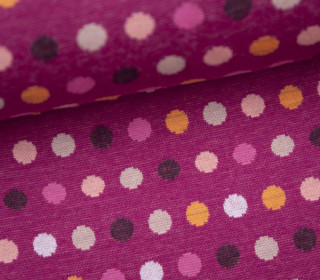 Bio-Jacquard - Mellow Dots - Punkte - Beere