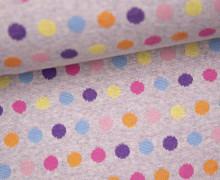 Bio-Jacquard - Mellow Dots - Punkte - Rosagrau