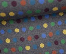 Bio-Jacquard - Mellow Dots - Punkte - Bunt - Dunkelgrau