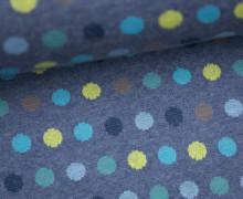 Bio-Jacquard - Mellow Dots - Punkte - Blau