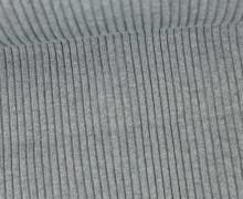 Hipster Bündchen - Rippen - Melange - Uni - Schlauchware - Grau