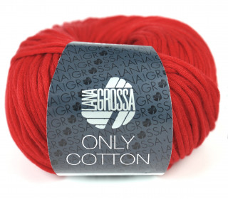 1 Schlauchgarn - Only Cotton - 110m - Lana Grossa - Rot (017)