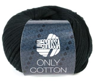 1 Schlauchgarn - Only Cotton - 110m - Lana Grossa - Schwarz (014)