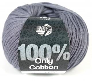 1 Schlauchgarn - Only Cotton - 110m - Lana Grossa - Grau (012)