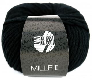 1 Wollgarn - Mille II - 55m - Lana Grossa - Schwarz (015)