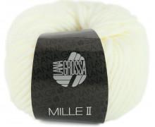 1 Wollgarn - Mille II - 55m - Lana Grossa - Warmweiß (075)