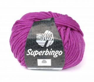 1 extrafeine Merinowolle - Superbingo - 55m - Lana Grossa - Lila (039)