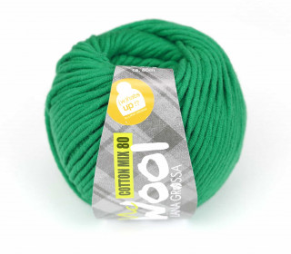 1 Garn - Mc Wool - Cotton Mix 80 - 80m - Lana Grossa - Grün (510)