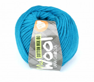 1 Garn - Mc Wool - Cotton Mix 80 - 80m - Lana Grossa - Cyanblau (548)