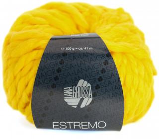 1 Wollgarn - Estremo - Chunky Garn - 41m - Lana Grossa - Gelb (015)