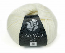 1 extrafeine Merinowolle - Cool Wool Big - 120m - Lana Grossa - Warmweiß (601)