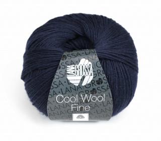 1 extrafeine Merinowolle - Cool Wool Fine - 300m - Lana Grossa - Nachtblau (015)