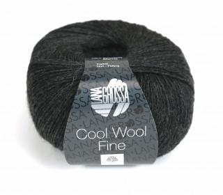 1 extrafeine Merinowolle - Cool Wool Fine - 300m - Lana Grossa - Dunkelgrau meliert (017)