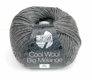 1 extrafeine Merinowolle - Cool Wool Big Melange - 120m - Lana Grossa - Dunkelgrau (617)
