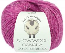 1 extrafeine Merinowolle - Slow Wool Canapa - 100m - Lana Grossa - Fuchsia Meliert (012)