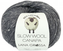 1 extrafeine Merinowolle - Slow Wool Canapa - 100m - Lana Grossa - Grau Meliert (005)
