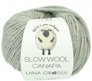 1 extrafeine Merinowolle - Slow Wool Canapa - 100m - Lana Grossa - Lichtgrün Meliert (006)