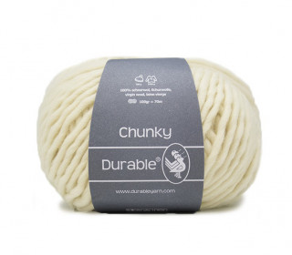 1 Stickgarn - Häkelgarn - Durable - Chunky - 70m - Warmweiß (326)