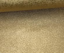 Kunstleder mit Struktur - Stein Optik - 3D - Glänzend - Gold