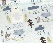 Sommersweat - Bio Qualität - Kleine Winterfreunde - Blassblau - abby and me