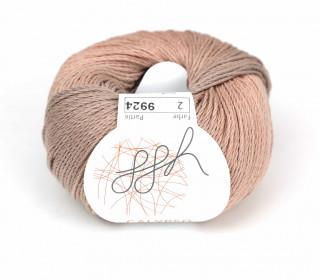 1 Strickgarn - Calypso - Farbverlauf - 185m - ggh - Rosenholz/Grau (002)