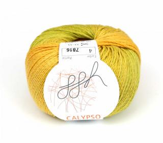 1 Strickgarn - Calypso - Farbverlauf - 185m - ggh - Orange/Olive (004)