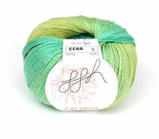 1 Strickgarn - Calypso - Farbverlauf - 185m - ggh - Olive/Türkis (005)